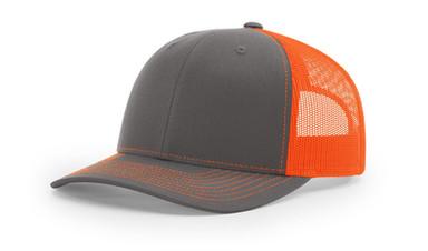 Richardson 112 - Charcoal Neon Orange