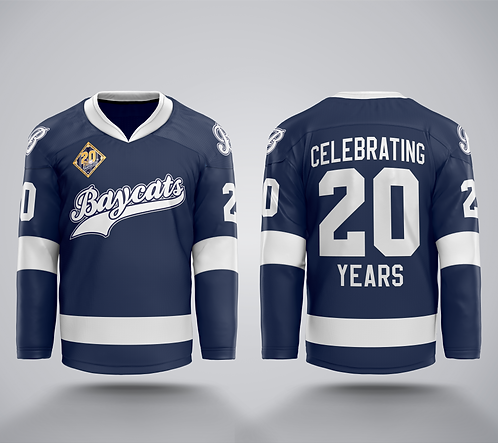 Baycats 20th Anniversary LIMITED EDITION Hockey Jersey