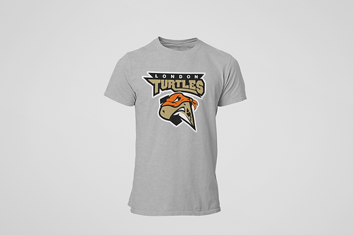 London Turtles Grey T-Shirt (Main Logo)