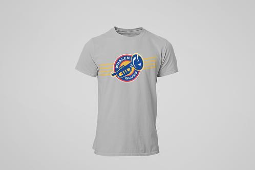 Whalen Blues Grey T-shirt (Striped Logo)