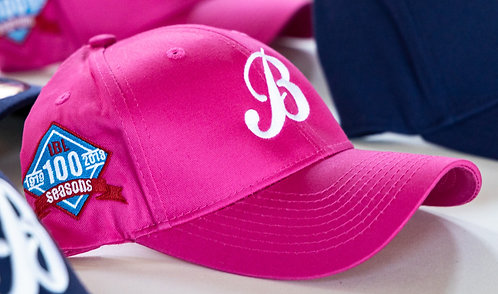 Baycats Adjustable Hat Pink 100th Year IBL Patch