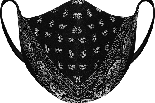 Black Paisley - Sublimated Reusable Face Mask