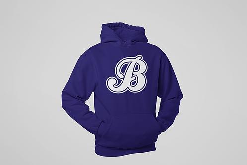 Baycats Jersey Logo Cotton Hoodie Navy Unisex