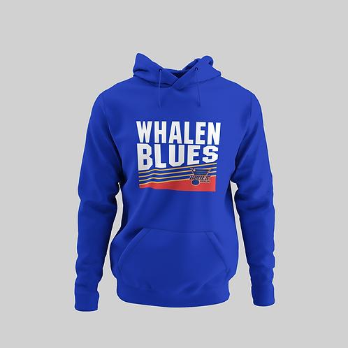 Whalen Blues Blue Performance Hoodie (Vintage Logo)