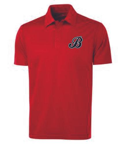 Baycats Team Golf Shirt - Red B Logo