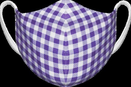 Purple Plaid - Sublimated Reusable Face Mask