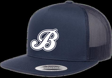 Baycats Yupoong Trucker Snapback Hat Navy