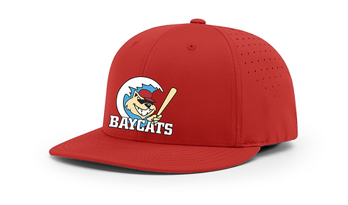 Baycats Richardson PTS30 Lite-R Stretch Fit Hat Red Vintage Logo