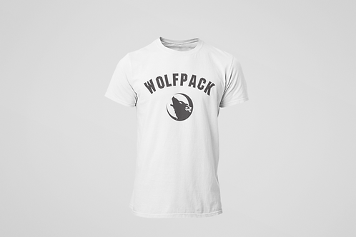 Barrie Wolfpack White T-Shirt (Black Logo)