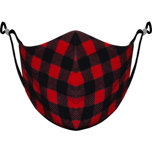 Red Plaid Adjustable - Reusable Face Mask