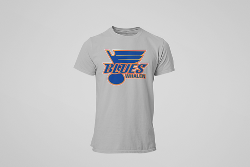 Whalen Blues Grey T-shirt (Main Logo)