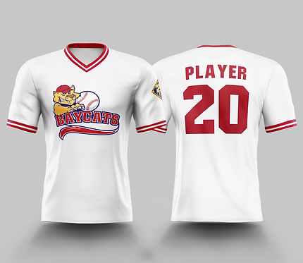Barrie Baycats Custom Replica Throwback Jersey White