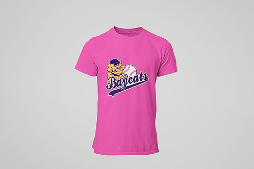 Barrie Baycats Youth Classic Logo T-Shirt Pink