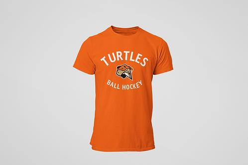 London Turtles Orange T-Shirt (White Logo)