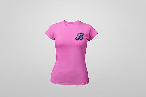 Baycats Women's Crewneck T-Shirt B Logo Pink