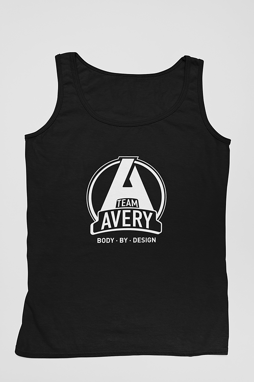 Team Avery Performance Tank Top Black - White Logo