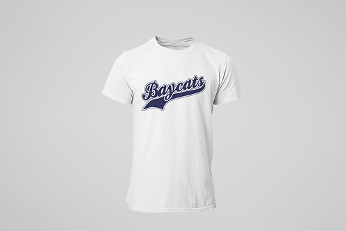 Baycats Script Logo T-Shirt White