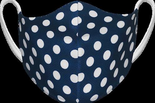 Navy Polka Dot - Sublimated Reusable Face Mask
