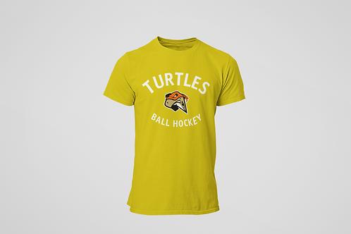 London Turtles Yellow T-Shirt (White Logo)