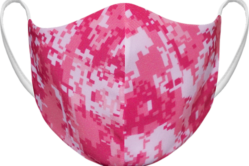 Pink Digital Camo - Sublimated Reusable Face Mask