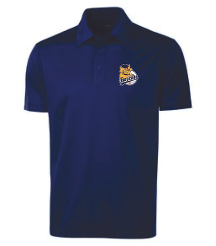 Baycats Team Golf Shirt - Navy Team Logo