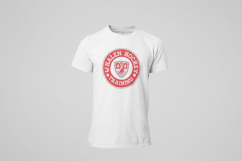 Whalen Blues White T-shirt (Red Logo)