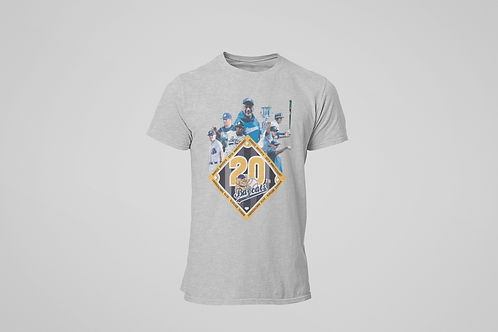 Baycats Vintage 20th Anniversary T-Shirt Grey