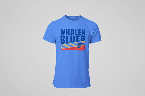 Whalen Blues Sky Blue T-shirt (Vintage Logo)
