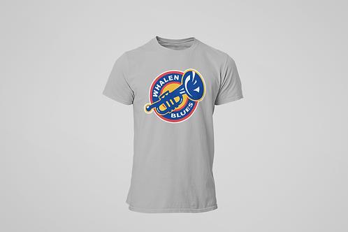 Whalen Blues Grey T-shirt (Alternate Logo)