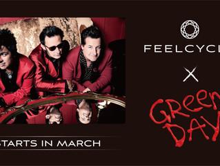 FEELCYCLE×Green Day スペシャルプログラム実施決定! 3月下旬から期間限定でレッスン提供開始!