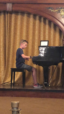 He is always looking for a piano!