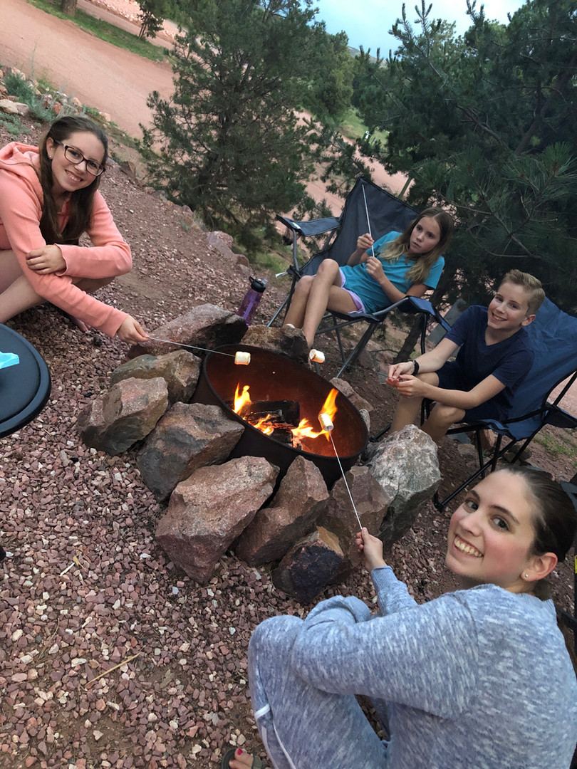 Roasting Marshmellows just west of the Springs