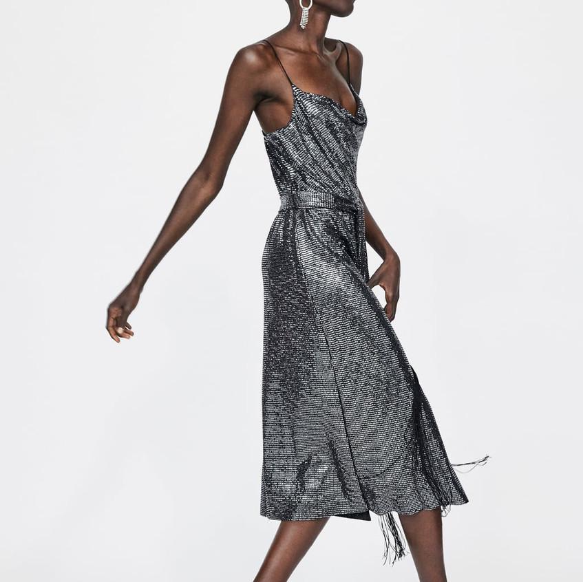 Shimmer Dress with Belt