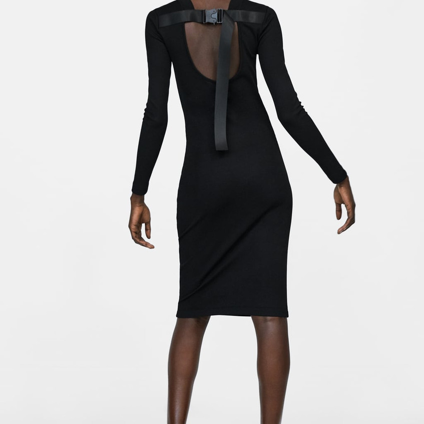 Tube Dress with a Funky Detail