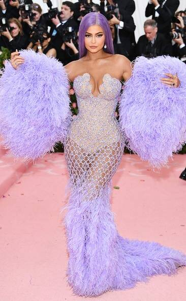 Kylie Jenner in custom Versace