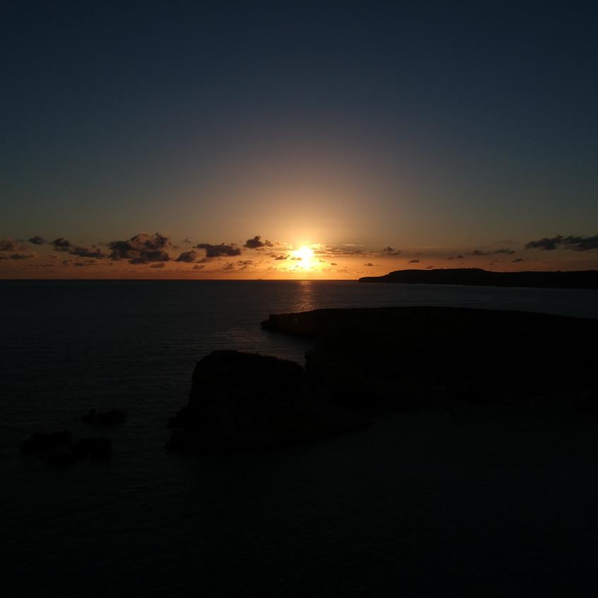 Sunset at Blue Lagoon, Comino island, Ra
