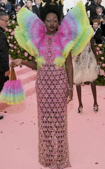 Lupita Nyongo in custom Versace
