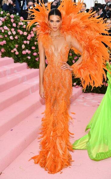 Kendall Jenner in custom Versace