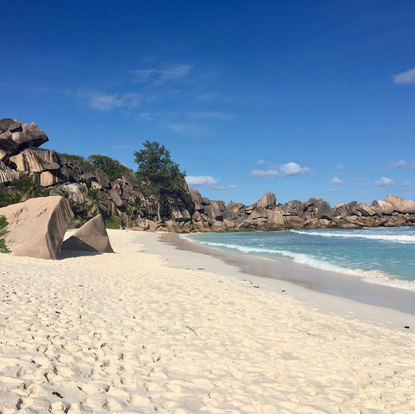 Grand Anse, La Digue island, Seychelles, Randomly Blogging Around