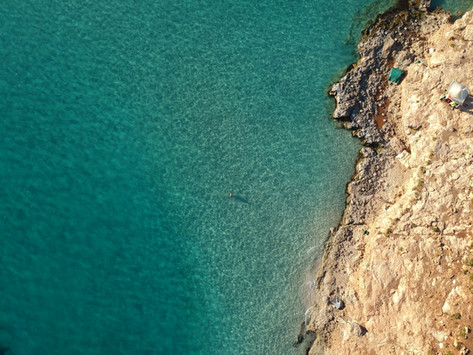 Thousand shades of Blue at Malta's most famous spot