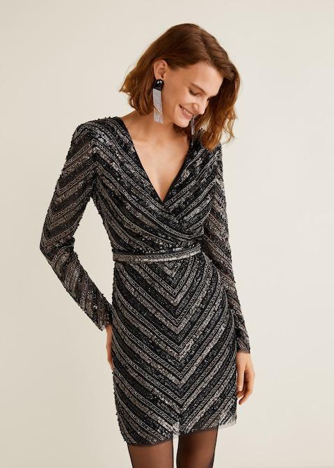Embroidered Tule Dress