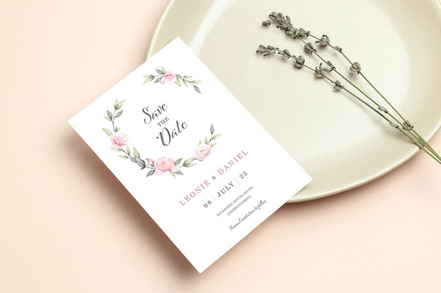 Pink Bloom Save the Date