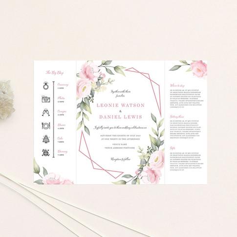 Pink Bloom Gate Fold Inside