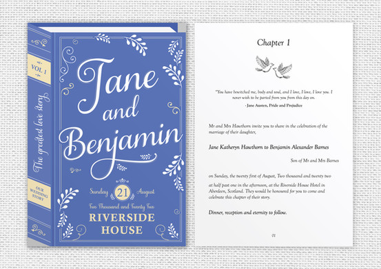 A5 Invite Austen Collection - Front and