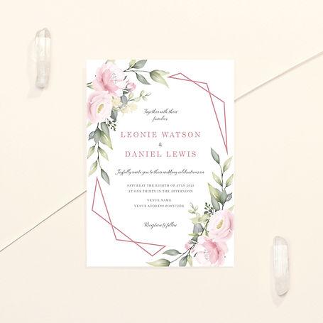 Pink Bloom Wedding invitation