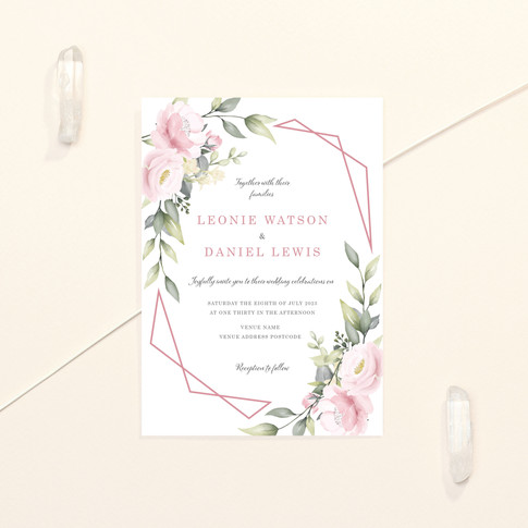 Pink Bloom Invite