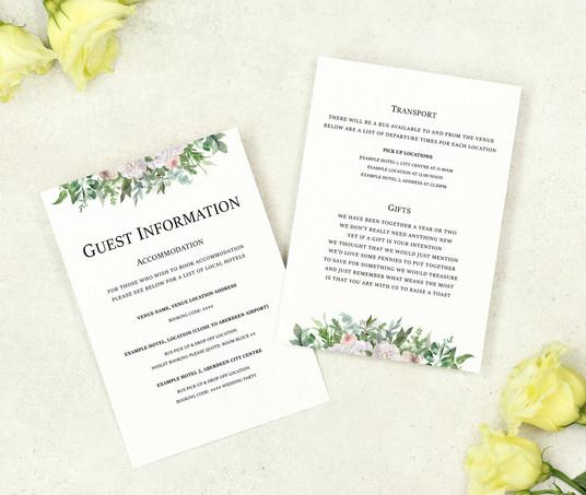 Skye - Information Cards