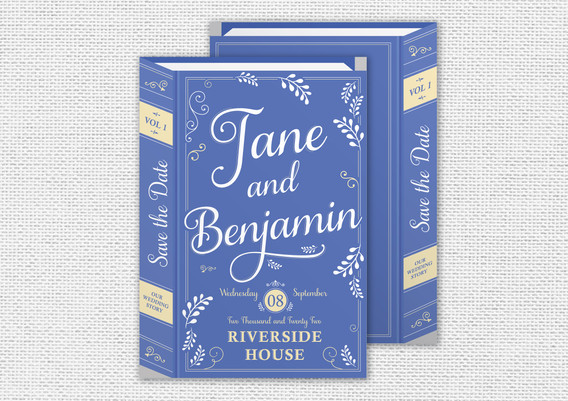 A5 Save the Date Austen Collection - Fro