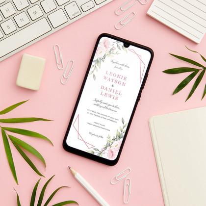 Pink Bloom Digital Invites