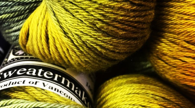 we sell sweatermaker hand dyed  hand spun yarns